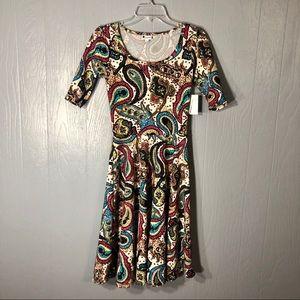 Lularoe Nicole multicolor paisley dress